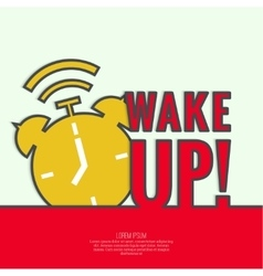 Background with alarm clock vector image vector image