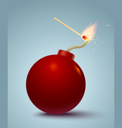 bomb and match vector image vector image