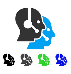 Call center operators flat icon vector