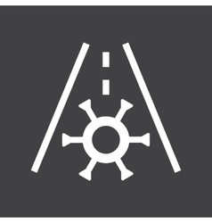 Car frost icon vector