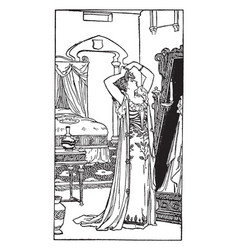 Cinderella felt that her end was drawing vintage vector