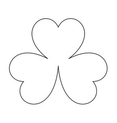 clover the black color icon vector image vector image