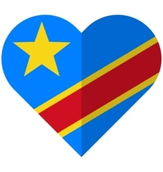 Democratic republic of congo flat heart flag vector