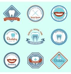 Dental emblems set vector