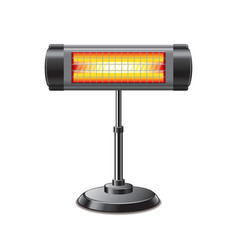 Electric heater isolated vector