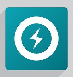 Flat lightning icon vector