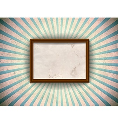Frame on the grungy rays background vector image vector image