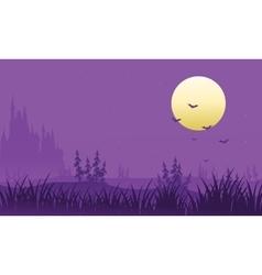 Full moon at Halloween bat vector image vector image