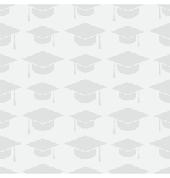 Graduation cap seamless pattern vector image vector image