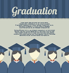 Group of Students In Graduation Gown And vector image vector image