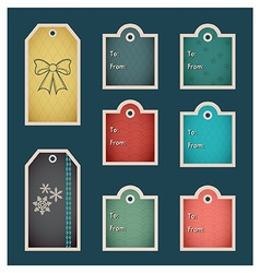 Holiday christmas tags C preview vector image vector image