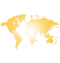 Isolated yellow color worldmap of dots on white vector
