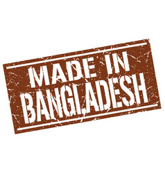 Made in bangladesh stamp vector