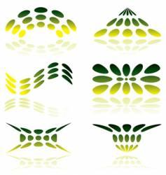 mesh logo vector image vector image