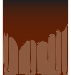 Molten chocolate background vector