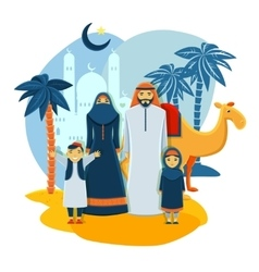 Muslim family concept vector