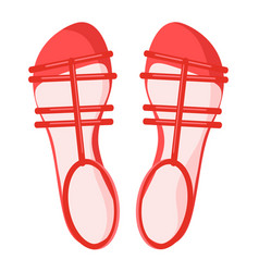pair of red female sandals isolated vector image