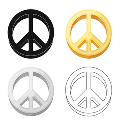 the icon of the worldhippy single icon in cartoon vector image vector image