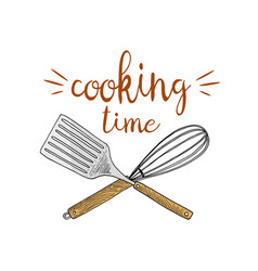 whisk or kitchen cooking stuff for menu vector image vector image