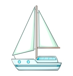 Sailing ship icon cartoon style vector