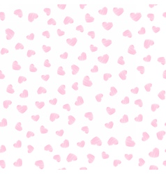Gentle seamless pattern with pink hearts vector