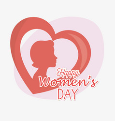 Happy womens day card vector