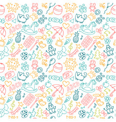 Background for little boys and girls in sketch vector