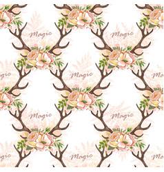 Deer anller pattern vector