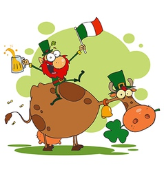 St Patricks Day leprechaun cartoon vector image
