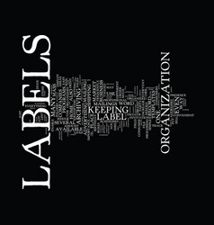Labels text background word cloud concept vector
