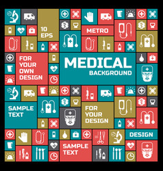 Medical colored symbols background vector
