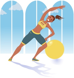 Fitness instructor vector