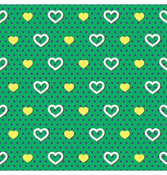 Polka dots hearts pattern vector