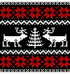 Nordic pattern on black vector image