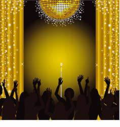 Stage and crowd vector