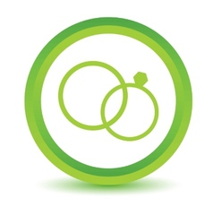 Green marriage icon vector