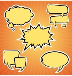 Set of comic bubbles template vector