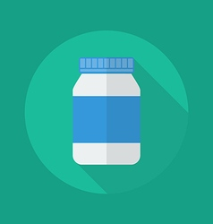 Medical flat icon medicine bottle vector