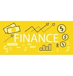 Finance concept banner design flat vector