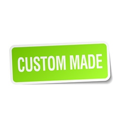 Custom made green square sticker on white vector