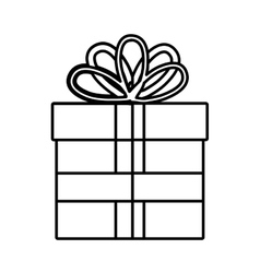 Gift box with stripes graphic vector