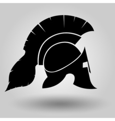 Spartans helmets silhouette vector