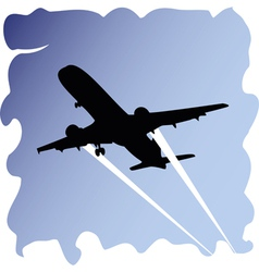 Plane in sky vector image