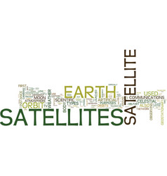 Artificial satellite types text background word vector