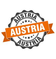 Austria round ribbon seal vector