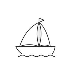 Boat line icon vector