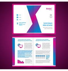 Booklet catalog brochure folder origami geometric vector