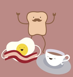 Breakfast characters vector