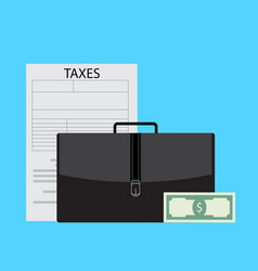 Business taxes vector