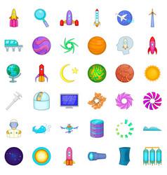 Compass icons set cartoon style vector